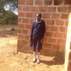 Cilla (Chisanga district) has been moved around by her family and so is rejoining the sponsorship programme next year. She was very happy to be back on the programme.