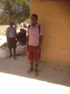This boy walked 25km after school on Wednesday to be at the meeting on Thursday.