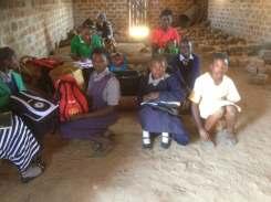 Children gathered at Mwatishi district.