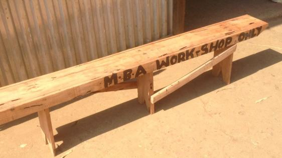 Benches made for the workshop